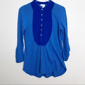 Anthropologie | Meadow Rue Blue Popover Buttons M